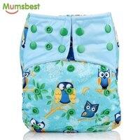 [Mumsbest] Новые моющиеся детские подгузники с микрофиброй вставки для маленьких мальчиков и девочек многоразовая регулируемая одежда памперс...