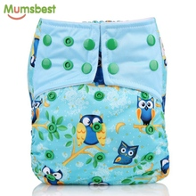 [Mumsbest] New Washable Baby AIO Cloth diaper With Microfiber Insert For Baby Boy & Girl Reusable Adjustable Cloth Diapers Nappy(China)