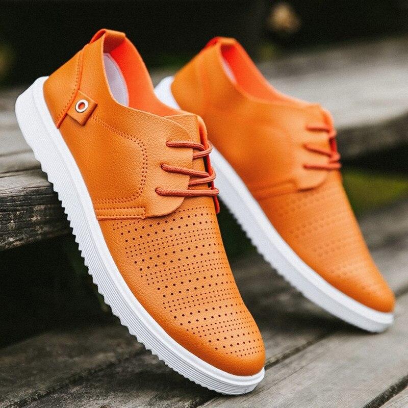2018 nuovi uomini caldi scarpe casual di modo confortevole traspirante antiscivolo scarpe da uomo a80