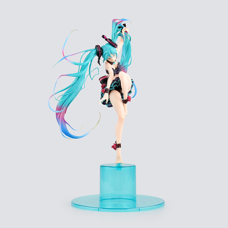Japan Anime Hatsune Miku Figure Miku Mebae Ver PVC Action Figure Collectible Brinquedos Kids Toys Juguetes 23cm Free Shipping new arrival 1pcs 18cm pvc japanese anime figure hatsune miku budokan ver action figure collectible model toys brinquedos