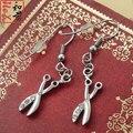 Tesouras do cabelo de aço inoxidável brincos jóias estilista cabeleireiro acessório