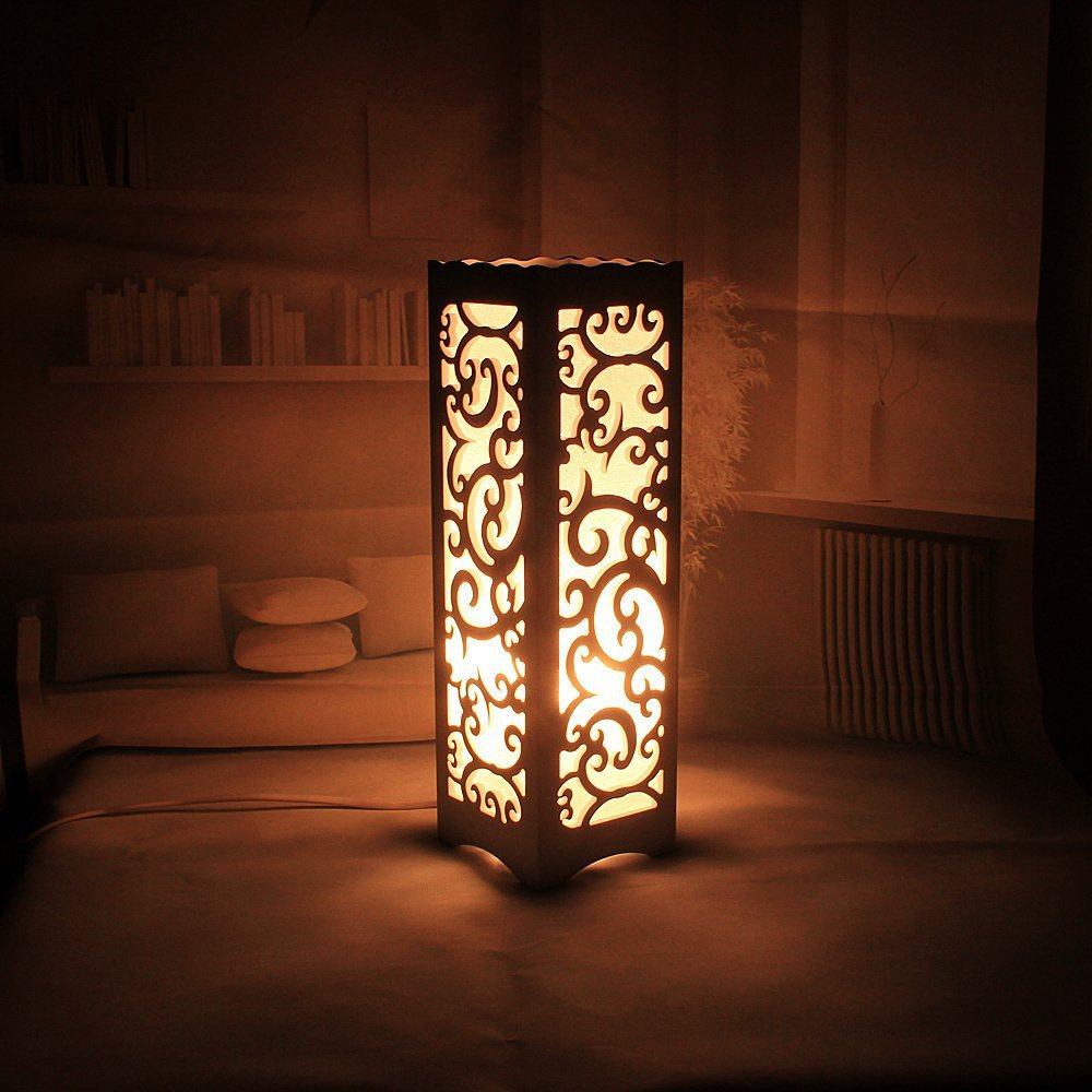 Gentil Decorative Table Lamp Vintage Wood Plastic Rustic Style Brief Modern  Lampshade Living Room Bedroom 110 220V Desk Light In Table Lamps From  Lights U0026 Lighting ...