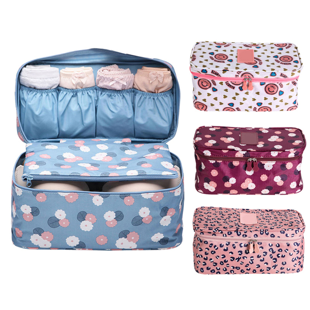 Travel Storage Bag Underwear Bra Organizer Underwear Panties Organizer  Container Cosmetic Bag Toiletries Storage Bag
