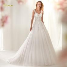 Loverxu Wedding Dress Cap Sleeve Bride Dress Court Train