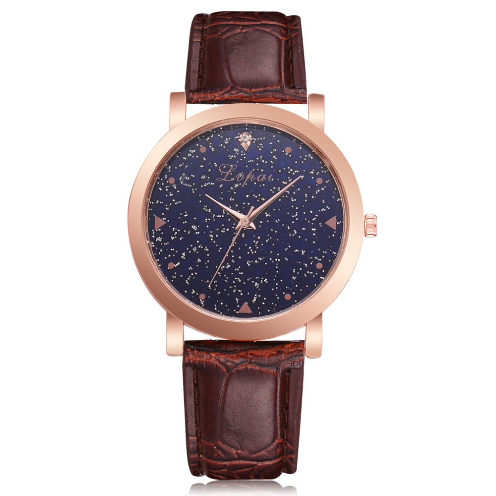 Lvpai Women's Casual Quartz Leather Band Watch Analog Wrist Watch For Christmas