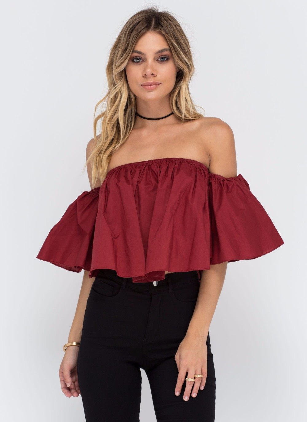 HTB1.vyjNFXXXXXBXXXXq6xXFXXXi - T shirt women butterfly sleeve off the shoulder crop top 2017