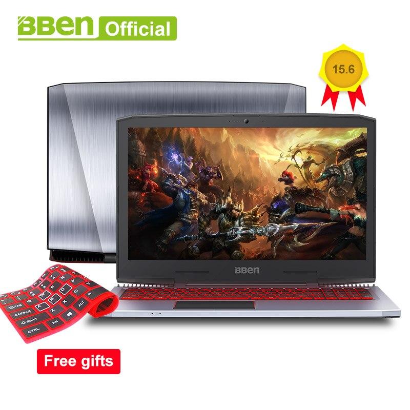 BBEN G16 Игровые ноутбуки Pro Windows10 компьютеры 15,6 GTX1060 Intel Core i7 7700HQ DDR4 8 г/16 г /32 г Оперативная память 256 г/512 г SSD, 1 ТБ/2 ТБ HDD