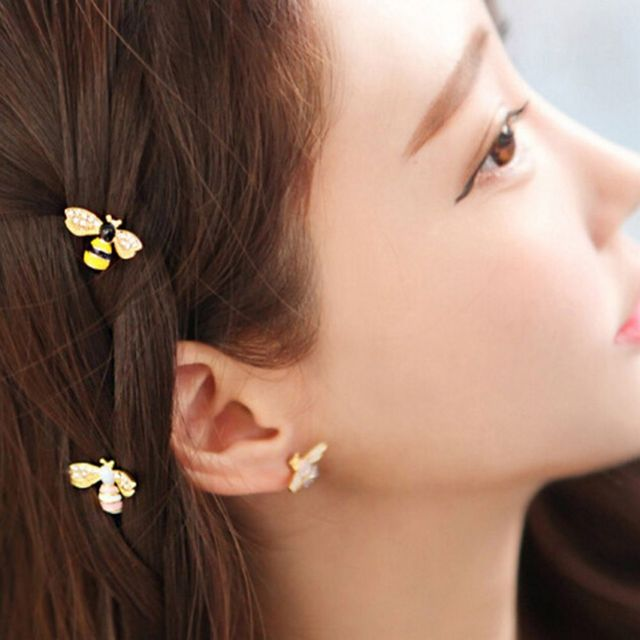 Bee Rhinestone Hairpin