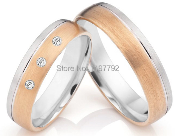 luxury tailor made k rose gold plated titanium wedding anniversary band rings