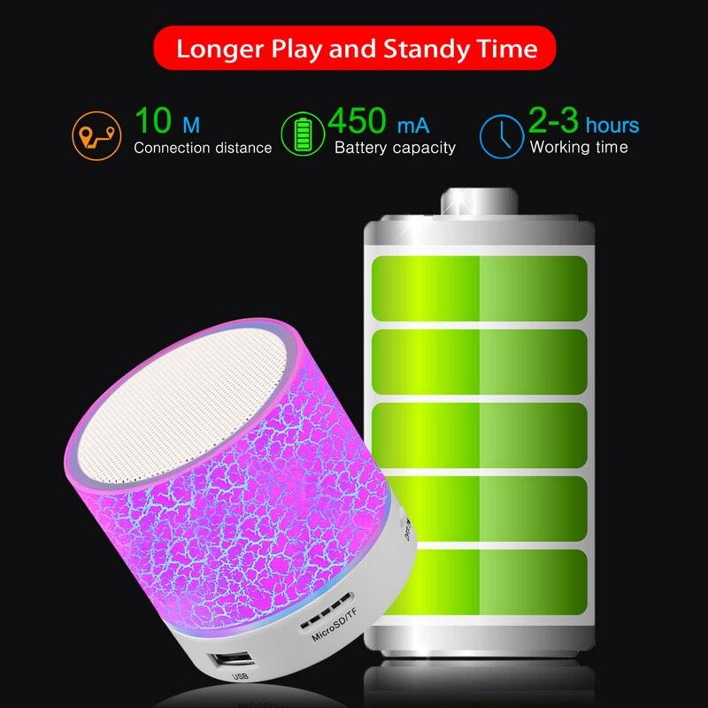 GETIHU Portable Mini Bluetooth Speaker Wireless Hands Free LED