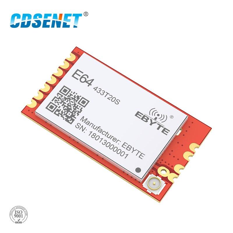 433 МГц 100 мВт беспроводной Радиочастотный трансивер Звездный сетевой сетчатый модуль CDSENET E64-433T20S низкая мощность 20dbm 433 МГц передатчик приемн...