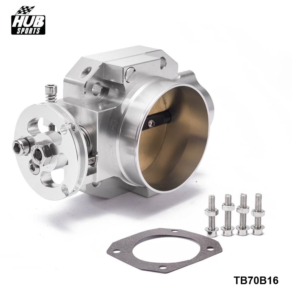 Haut Débit Aluminium Collecteur D'admission 70mm Corps de Papillon Argent Pour Honda Civic Acura Integra B16 B18 EK EG HU-TB70B16