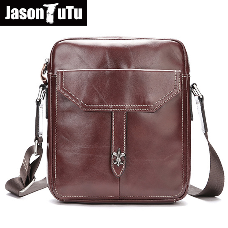 JASON TUTU 2017 Genuine Leather Men messenger bags small bag shoulder bag Business Men Briefcase Handbag man Bag HN85