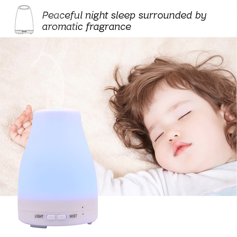Ultrasonic Humidifier Aroma Essential Oil Diffuser Cool Mist Humidifier Aromatherapy Diffuser With 7 Color LED Night Lights