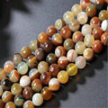 "6-12mm Deep Yellow Amber Stripe Banded Agate Round DIY Spacer Loose Beads 15"" natural stone beads for making necklace"