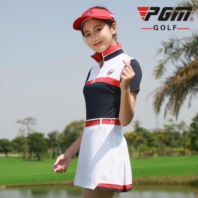 2018 Новый PGM Женский Гольф спортивный костюм гольф с коротким рукавом футболка юбка летняя дышащая быстросохнущая одежда для гольфа Размер xs-xl