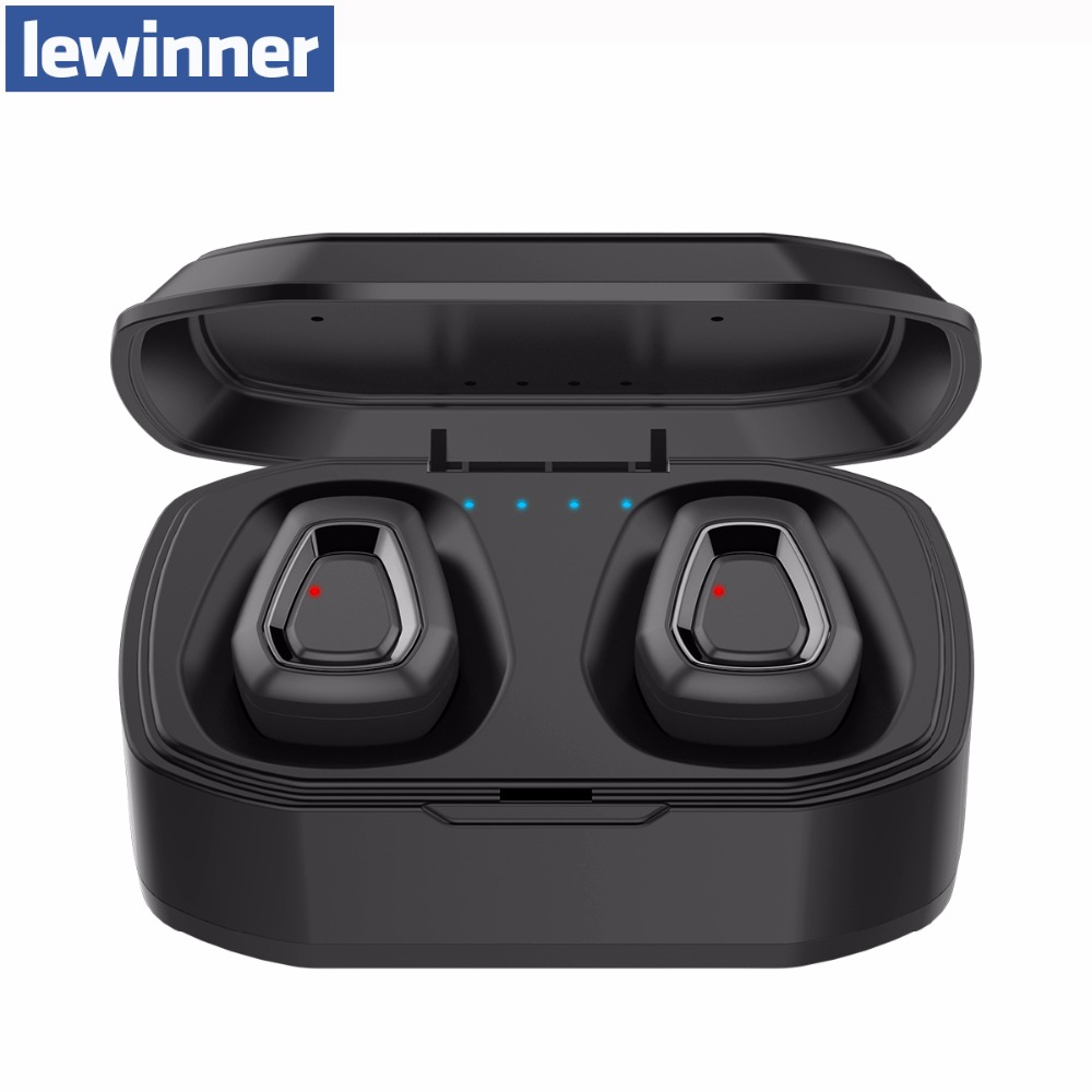 Lewinner new Bluetooth 4.2 Hifi Earphone with dual Mic, A7 TWS Wireless Earbuds Stereo Microphone for Phone With Charger Box