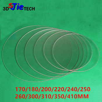 DIY Delta 3D Printer Round 100% borosilicat glass plate 3mm Thickness Diameter 170/180/200/220/240/250 260/300/310/350/410MM image