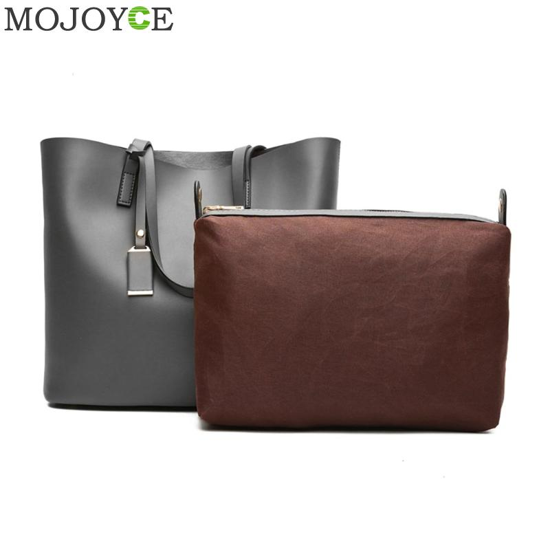 Composite Bag 2 Bag/Set Women PU Leather Shoulder Bag Big