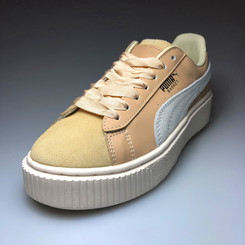 Original PUMA x FENTY Suede Cleated Creeper Women s Second Generation  Rihanna Classic Basket Suede Tone Simple Badminton Shoes-in Badminton Shoes  from ... 297f30dfb