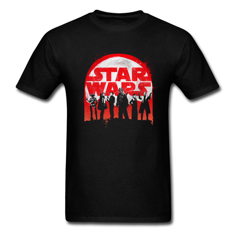 Tees Star War Best Crew in the Galaxy Father Day 2018 New Casual Short Sleeve Pure Cotton Round Neck Men T Shirts Casual T Shirt