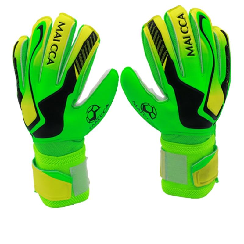 New Latex Kids Men's Soccer Goalkeeper Gloves Professional Football Protection Keeper Gloves Adult Soccer Goalie Training Gloves(China)
