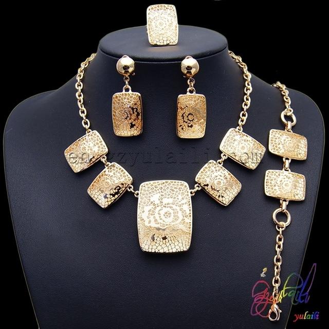 free shipping!! women s gift jewelry  fake gold jewelry set  wedding jewelry  set a62ee75b5