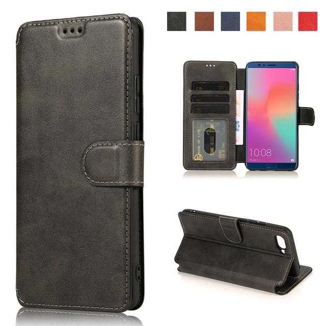 Phone Case For Huawei Y6 Y7 Y5 Prime Pro Y9 2019 2018 Leather Flip Wallet Cover Card Slots Hawei Honor 8A 8X 8C 10 20 7C Enjoy8E