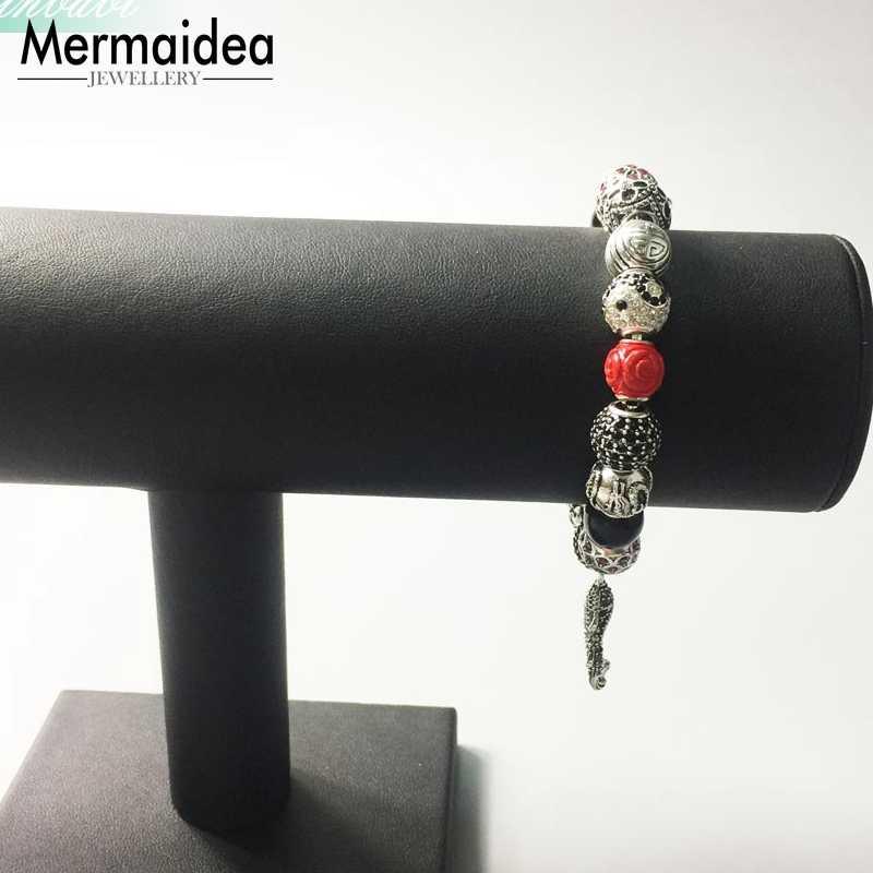 ปลาสร้อยข้อมือ Link Chain 925 ของขวัญอินเทรนด์ Karma Diy สร้อยข้อมือแฟชั่นเครื่องประดับสำหรับผู้หญิง