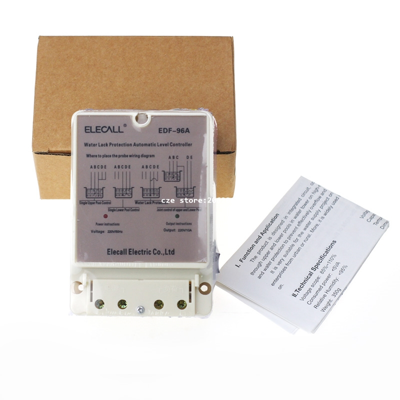 DF96A 220V 10A Automatic Water Level Controller for Water Pump Pank Auto-Switching Float Switch with English Instrustion 6162 63 1015 sa6d170e 6d170 engine water pump for komatsu