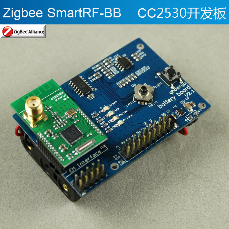 ZigBee development board SmartRF-BB CC2530 zigbee cc2530 dht11 pcb board design temperature and humidity acquisition vb display upper computer finished graduation