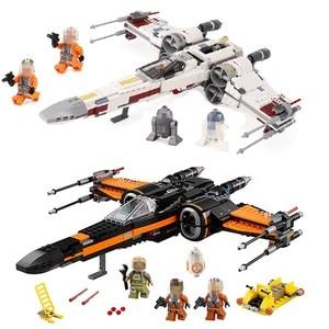 Image 1 - Starwars 05004 05145 10900 X Wing Star Starfighter Fighter Building Blocks toys for Children Compatible All Brand Star Plan Wars