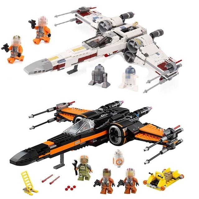 Starwars 05004 05145 10900 X Wing Star Starfighter Fighter Building Blocks toys for Children Compatible All Brand Star Plan Wars