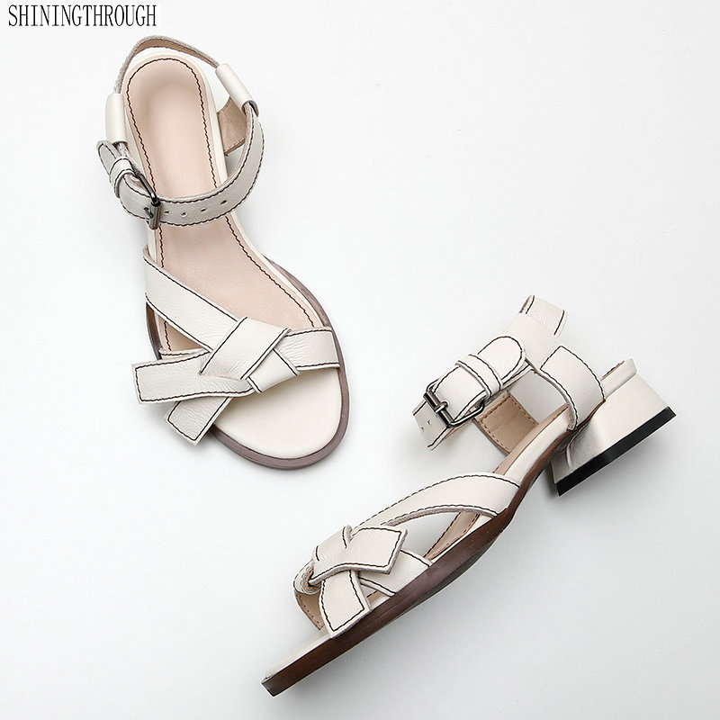 Fashion Real Genuine Leather Sandals Gladiator Summer Shoes Woman Ladies Elegant Wedding Shoes Sandals big toe sandal