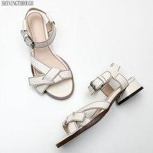 Fashion Real Genuine Leather Sandals Gladiator Summer