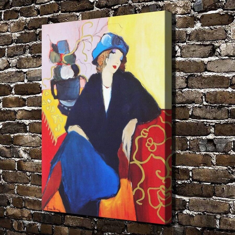 A0092 Itzchak Tarkay Frau sitzt Frau durch Figur, HD Leinwand Druck ...
