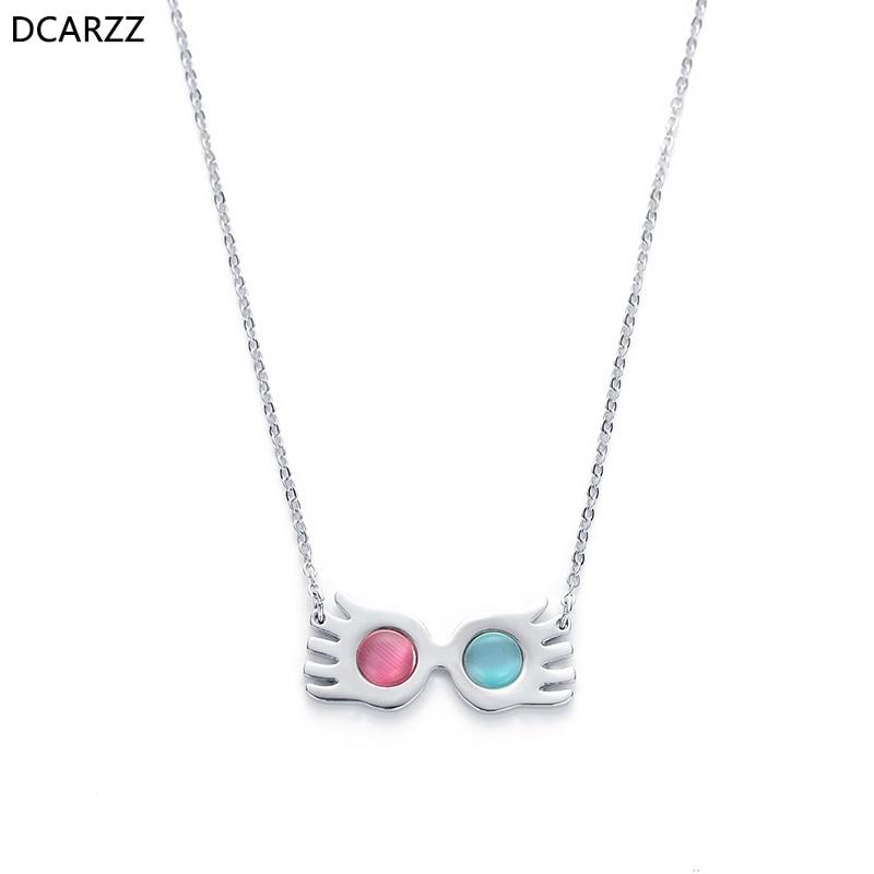 Harry Potter Luna Lovegood Glasses Eye Choker Pendant Chain Necklace Xmas Gifts