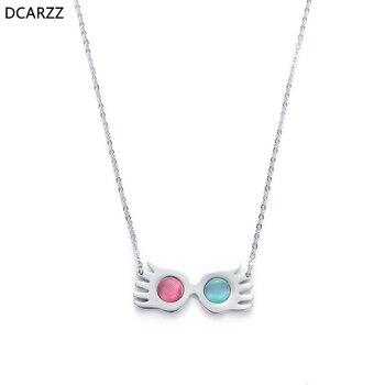 Ожерелье в виде очков Luna lovegwood, подвеска с опалами для женщин и девочек, модные летние украшения для косплея