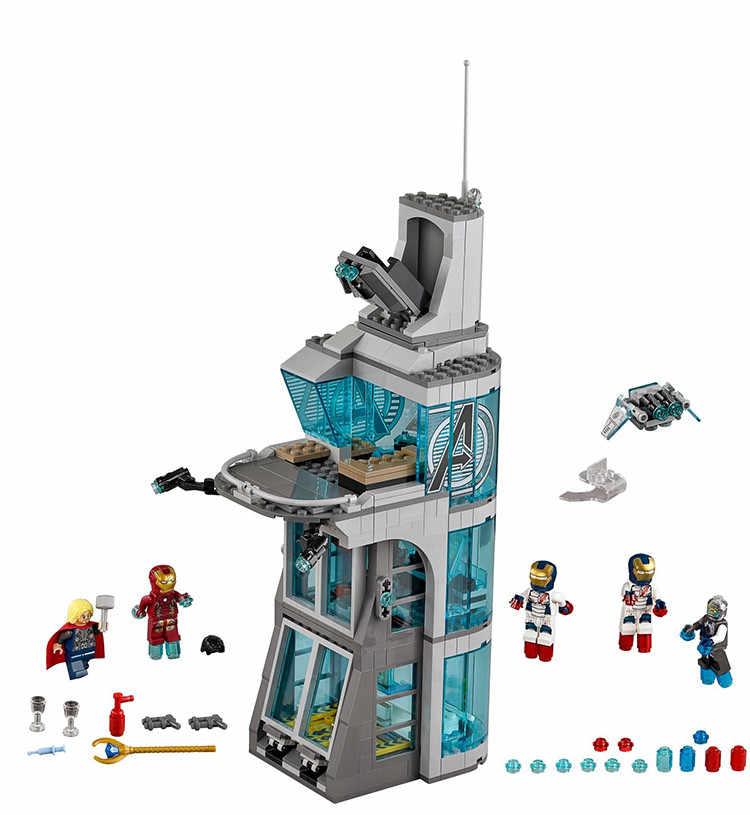 Новая обновленная версия супергероев Железный человек Марвел Avengers4 Совместимость legoinglys Мстители Строительные блоки кирпичная детская игрушка