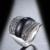 Mytys Preto Anel de Cristal Definição Invisível Retro Dos Anéis Para As Mulheres R1023