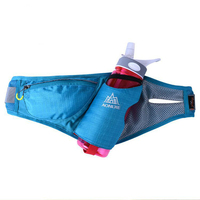 New Walking Running Cycling Waist Belt Packs For Smartphone key money Outdoor sports waist bag with Water Bottle Holder