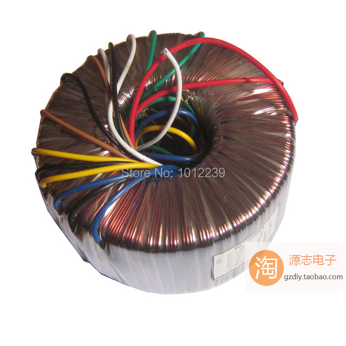 ФОТО 400W stereo power amplifier dedicated toroidal transformer dedicated 2X46V + 4 X12V