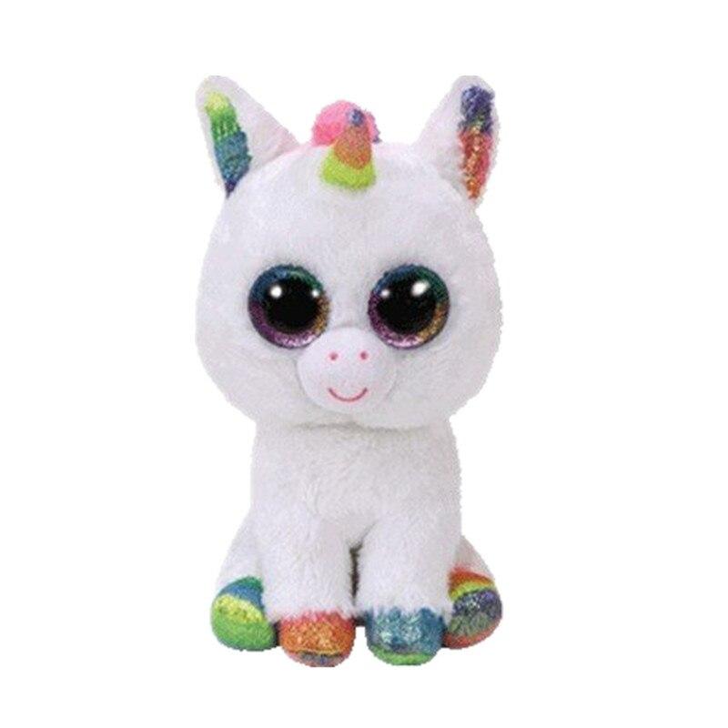 6 15 см Beanie Боос Набивные плюшевые игрушки красочные Белый Единорог игрушка кукла плюшевые детские подарки S60