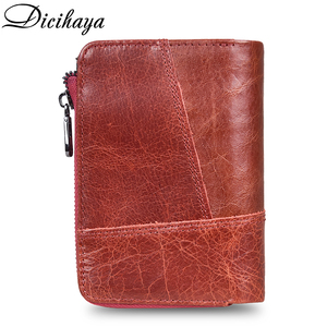 Image 3 - DICIHAYA NEW 2020 Genuine Leather Women Wallet Samll Women Leather Wallets Brand Coins Purse Red COW Leather Wallets Card Holder
