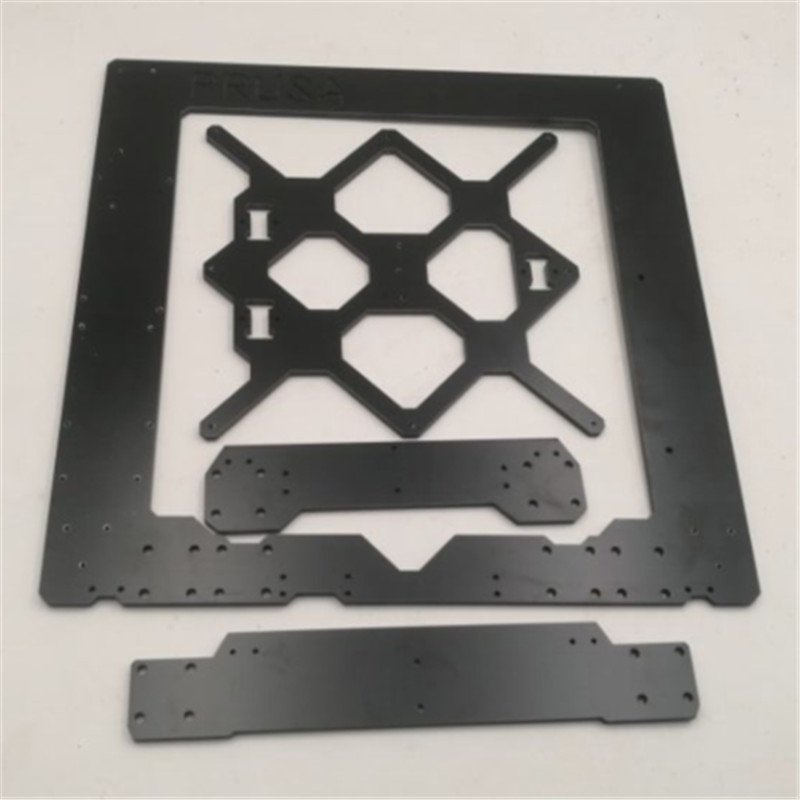 Funssor Black color Reprap Prusa i3 MK3 Aluminium composit frame kit 6mm Melamine Prusa i3 MK3 Frame 1set aluminium alloy prusa i3 mk3 frame kit with m5 tapped extrusions 6mm thickness
