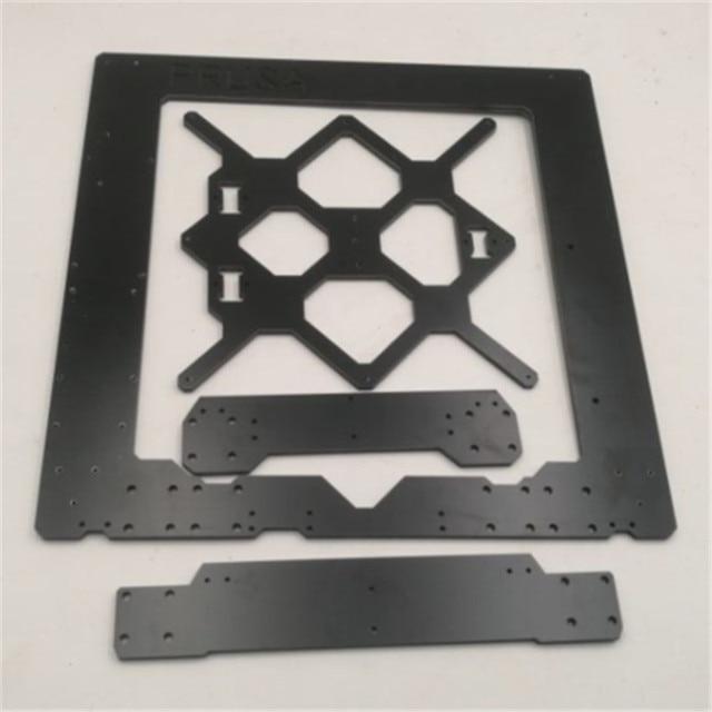 Funssor Black color Reprap Prusa i3 MK3 Aluminium composit frame kit 6mm Melamine Prusa i3 MK3 Frame
