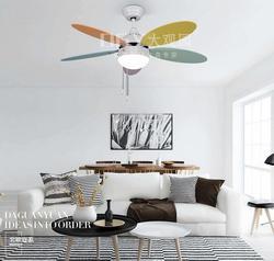 Nowoczesny minimalistyczny LED ładny kolor wentylator sufitowy wentylator elektryczny pokój dziecięcy restauracja wentylator sufitowy lampa sufitowa m