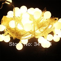 Fairy 4m 40 LED Battery Holiday Lighting Pendant Cherry Ball Garland Strings Cristmas Party Garden Outdoor