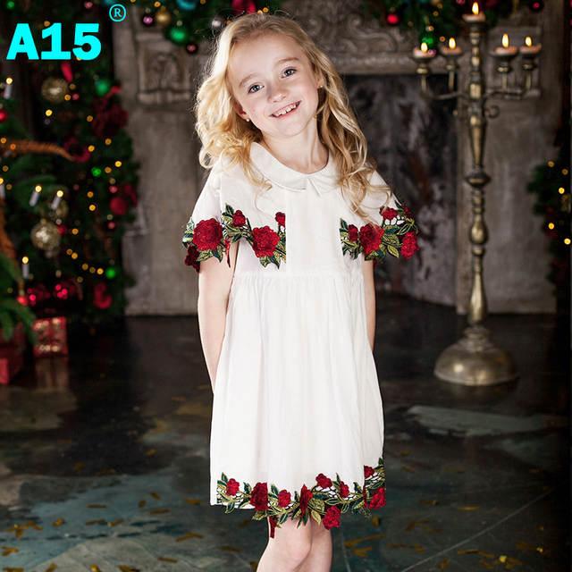 ca4a56c992b5 Online Shop A15 Kids Girls Boutique Dress 2017 Summer Toddler ...