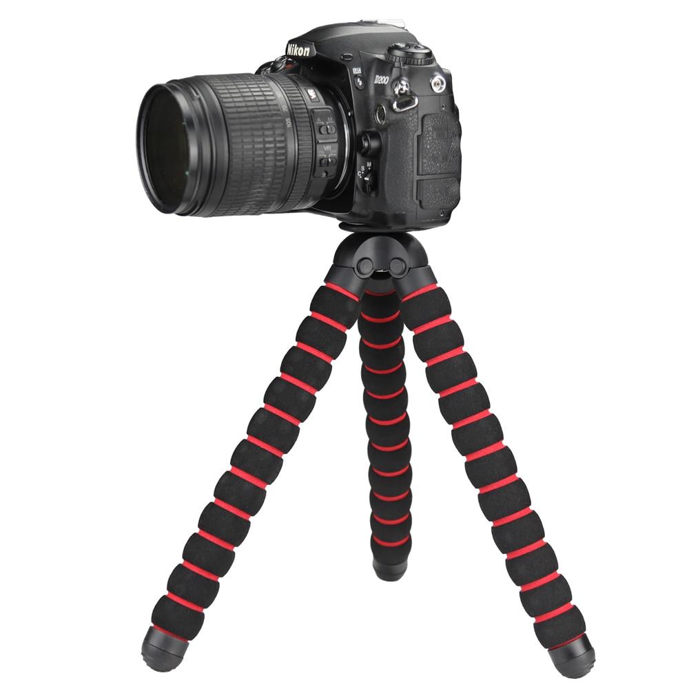 SHOOT Max Size Octopus Tripod With Adapter for DSLR Nikon d3300 d3200 Canon 600d 700d 720d SONY a7 FUJI Camera Tablet Tripod